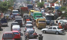 Traffic jam in Jakarta Indonesia Royalty Free Stock Photo