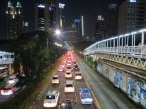 Traffic jam in Jakarta Stock Photos