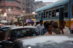 Traffic jam in Kolkata Stock Photography