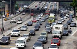 Traffic jam in Kuala Lumpur, Malaysia royalty free stock photo