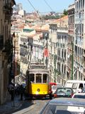 Traffic jam in Lisbon stock photos
