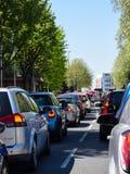 Traffic jam on London Road stock photo