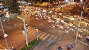 Traffic jam with a lot of cars on the roads of Ho Chi Minh City. Vietnam. stock footage