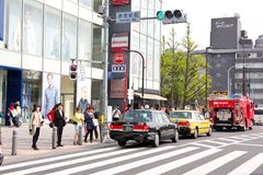 Traffic jam on the main crossroad of Harajuku shopping street Royalty Free Stock Photography