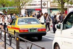 Traffic jam on the main crossroad of Harajuku shopping street Royalty Free Stock Photo