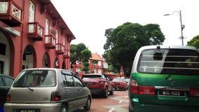 Traffic jam in Malacca Stock Photo