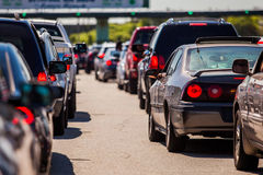 Traffic jam. With many cars Stock Photography