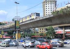 City traffic Jam monorail Kuala Lumpur Stock Image
