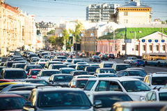 Traffic jam in Moscow Stock Photos