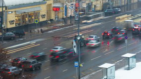 Traffic jam in Moscow, Russia stock video footage