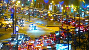 Traffic jam in Moscow, Russia stock footage