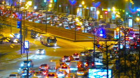 Traffic jam in Moscow, Russia stock video