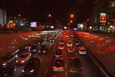 Traffic jam in Moscow. Stock Photography