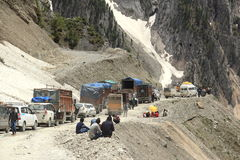Traffic Jam In Mountain(Ladakh)-4 Stock Photo