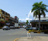 Traffic jam, Nadi Town, Fiji Stock Photos