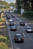 Traffic  jam nearl Dortmund Royalty Free Stock Image