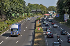 Traffic  jam nearl Dortmund Stock Images