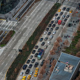 Traffic jam in New York City road Royalty Free Stock Images
