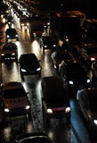 Traffic jam at night Stock Photo