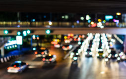 Traffic Jam at Night. Royalty Free Stock Image