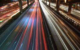 Traffic. Jam at night in the city Stock Image