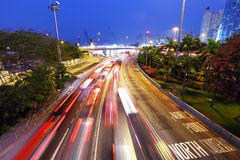 Traffic jam at night Royalty Free Stock Photos