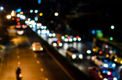 Traffic Jam at Night. Traffic Jam at Night in Bangkok Thailand Stock Images