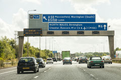 Traffic Jam north bound. M6 England. 8th Aug 2016. Traffic Jam north bound a constant problem for commuters due to road works and accidents on the M6 Motorway Stock Images