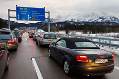 Free Traffic Jam On The A7 Autobahn In Germany Stock Photography - 28435492