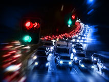 Traffic Jam pollution Stock Photo