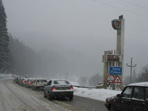 Traffic jam at the Prahova district Royalty Free Stock Image
