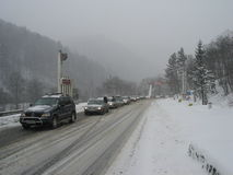 Traffic jam at the Prahova district Royalty Free Stock Photos