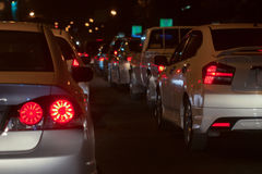 Traffic jam on road. In the city Royalty Free Stock Image