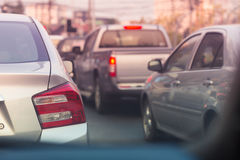 Traffic jam on road in the city Royalty Free Stock Image
