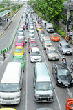 Traffic jam on a road in thailand Royalty Free Stock Images