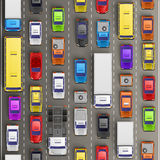 Traffic jam on the road Royalty Free Stock Photos