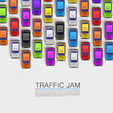 Traffic jam on the road Stock Photography