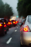 Traffic jam in rush hour Stock Image
