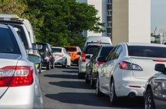 Traffic jam in rush hour. Bangkok Royalty Free Stock Image