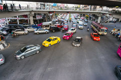 Traffic jam in rush hour at Bangkok Stock Image