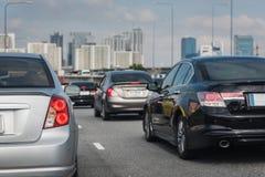 Traffic jam in rush hour Royalty Free Stock Image