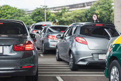 Traffic jam in rush hour Royalty Free Stock Images