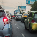 Traffic jam in rush hour Royalty Free Stock Photography