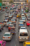 Traffic jam during rush-hour in Bangkok Royalty Free Stock Photos