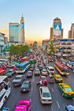 Traffic jam during rush-hour in Bangkok Royalty Free Stock Photography