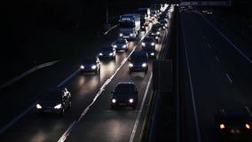 Traffic jam - rush hour on highway stock footage