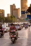 Traffic jam during the rush hour in Liuzhou, China Royalty Free Stock Photography