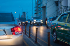 Traffic jam in rush hour Royalty Free Stock Image