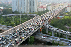 Traffic Jam, Qingdao Royalty Free Stock Photography