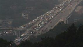Traffic jam in rush hour Stock Photo